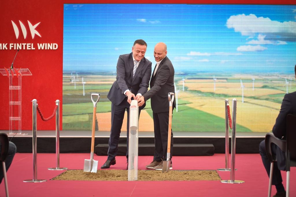 MK Fintel vind obeležio početak radova na izgradnji vetroparka Košava kod Vršca