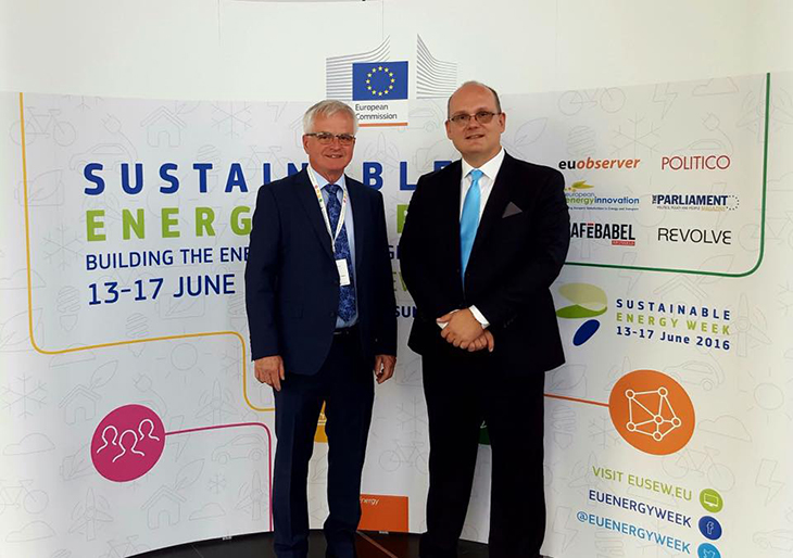 Major of the Municipality Pokupsko, Mr. Božidar Škrinjarić and North-West Croatia Regional Energy Agency, Managing Director dr. sc. Julije Domac
