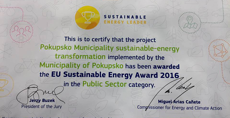 Pokupsko Municipality – Winner of EUSEW 2016 Public Sector Award