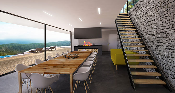 The Leisure Areas Have A Green Roof And Only Certain Parts Of The House Are  Above Terrain Level. The Minimalist Design Is Created By The Primary Needs  ...