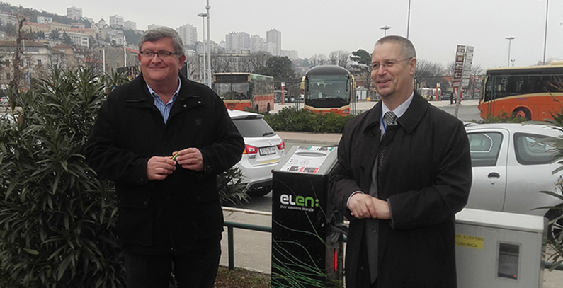 First ELEN charger for electric vehicles installed in Rijeka