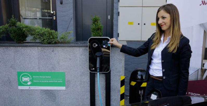 Hotel Meriot stanjica za punjenje elektricnih vozila