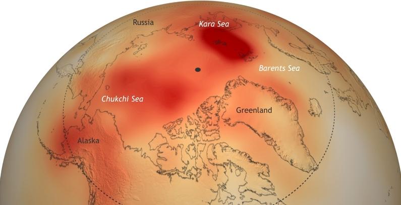 Najtoplija godina na Arktiku – brzina promena odgovara predviđanjima najvećih pesimista