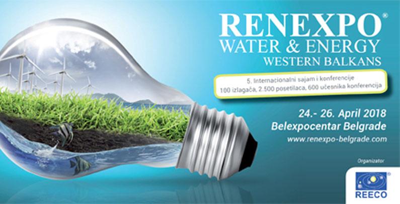 Peti sajam RENEXPO Water&Energy u Beogradu sredinom aprila