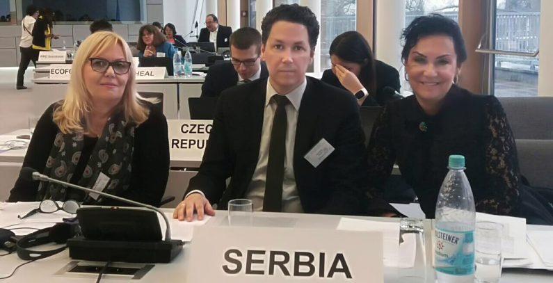Predstavnica Srbije član rukovodećeg tela Evropske radne grupe za životnu sredinu i zdravlje