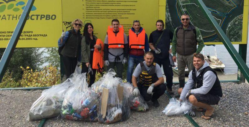 U akciji čišćenja beogradske obale uklonjeno 50 džakova smeća