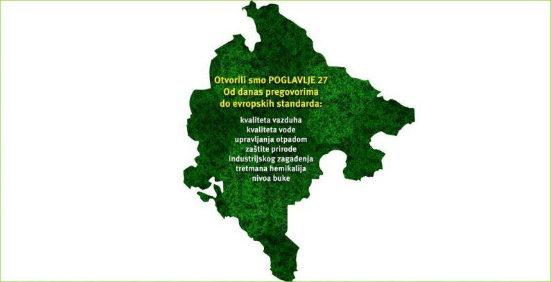 Crna Gora otvorila poglavlje 27 o životnoj sredini i klimatskim promenama