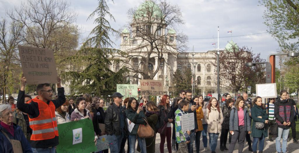 """Klimatski protest """"Petkom za budućnost"""" po prvi put održan u Srbiji"""