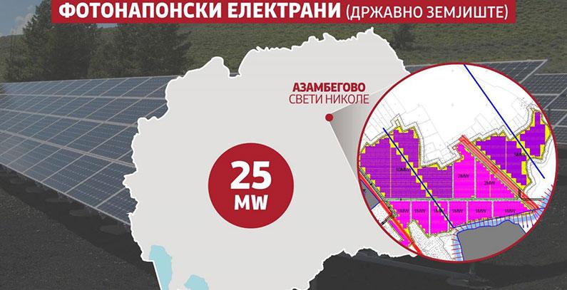 Bugarske, slovenačke i domaće firme grade devet solarnih elektrana u S. Makedoniji