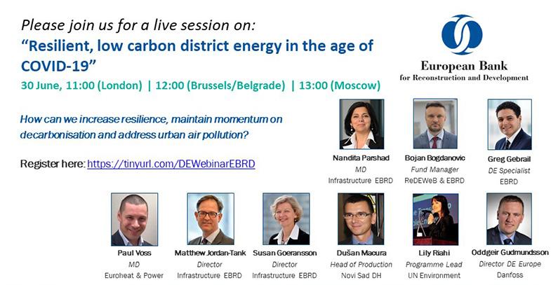 EBRD organizuje onlajn konferenciju o daljinskoj energetici u vreme COVID-19