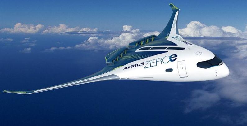 ZEROe koncepte hibridne avione na vodonik