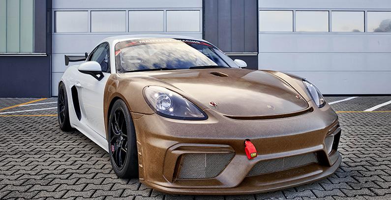 Porsche-718-Sportclub-MR delovi od prirodnih vlakana