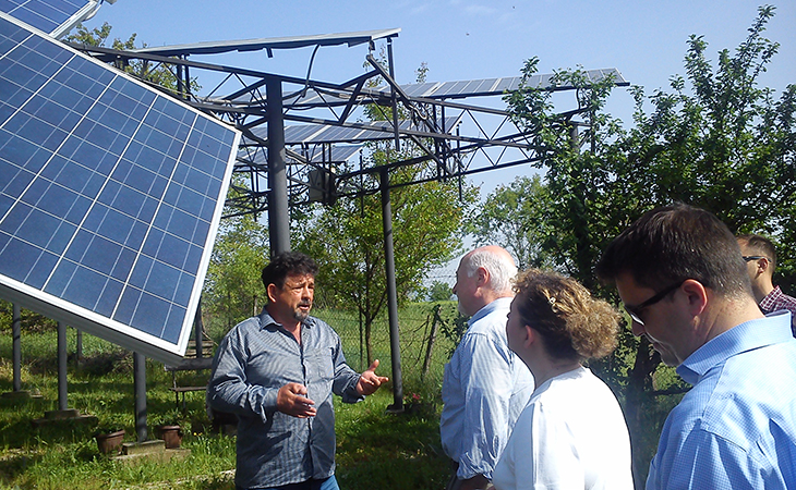 USAID MD visits photovoltaic field of SIETO