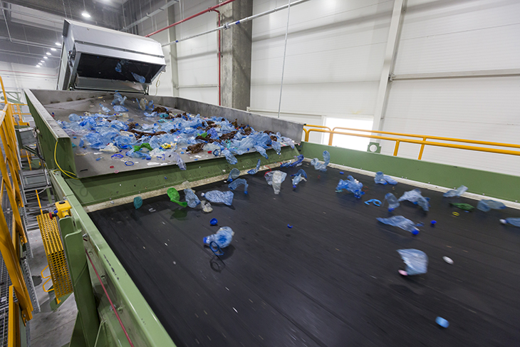 Automatic bottles sorting line in GREENTECH