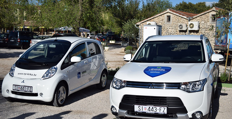 Advanced charger for electric cars installed at Krka