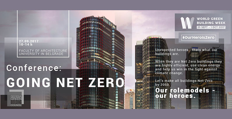 Conference Going net zero on green buildings to be held in Belgrade