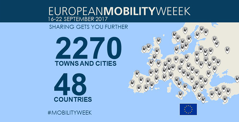 Towns and cities invited to apply for European Mobility Week Award 2017