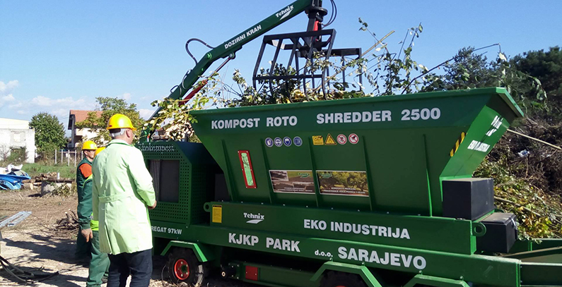 Sarajevo soon to get compost plant for green waste, new grinder presented