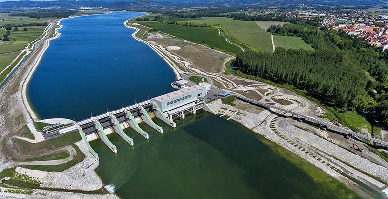 45 mw brežice hydropower plant on river sava inaugurated