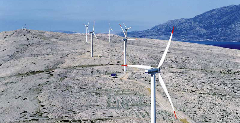 Wind turbine collapsed amid high winds on island of Pag