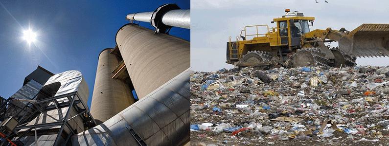 Cementna pec i otpad