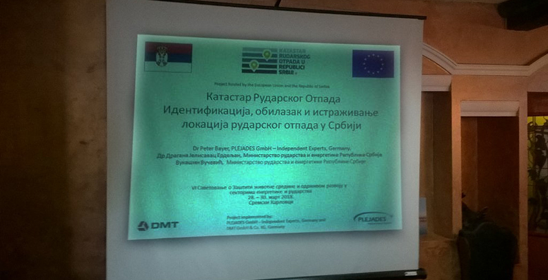 Cadastre of Mining Waste in Serbia project as example of good practice