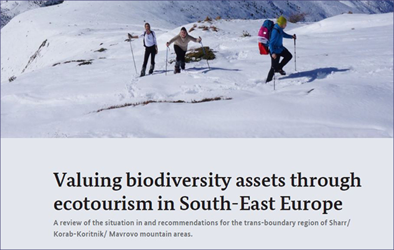 Paper: Valuing biodiversity assets through ecotourism in SEE – trans-boundary region of Sharr/ Korab-Koritnik/ Mavrovo mountain areas