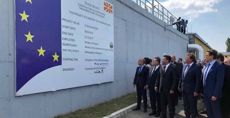 Bids for two wastewater treatment plants to be sought as construction of four EU-funded facilities wraps up