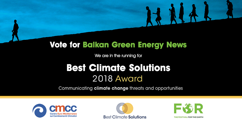 Vote for Balkan Green Energy News and help SEE's sole candidate win Best Climate Solutions 2018 Award!