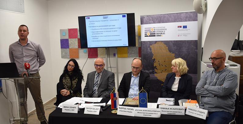 First public presentation of Cadastre of Mining Waste project held in Raška