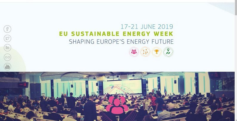 Applications for EUSEW 2019 Sustainable Energy Awards due by February 4