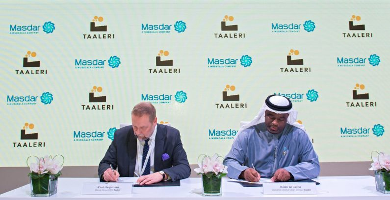 Taaleri, Masdar to set up JV to develop wind, solar projects in CEE