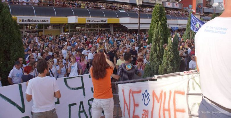 Protest against small hydropower plants to be held in Belgrade on Sunday
