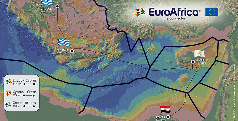 Framework agreement signed for 2,000 MW EuroAfrica Interconnector between Egypt, Cyprus, Greece