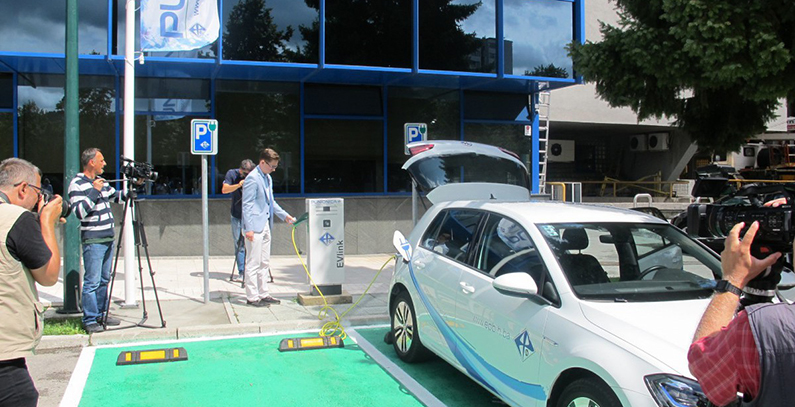 EPBiH installs 6 e-chargers, buys 6 electric vehicles