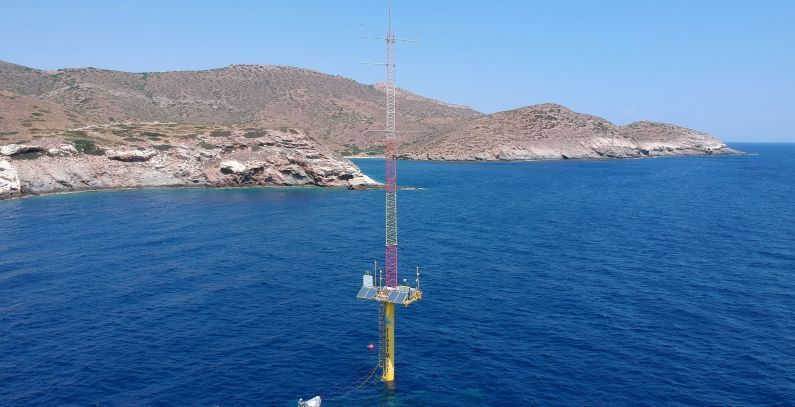Floating met mast for offshore wind measurements deployed off Makronisos