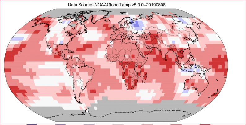 July 2019 hottest month on record