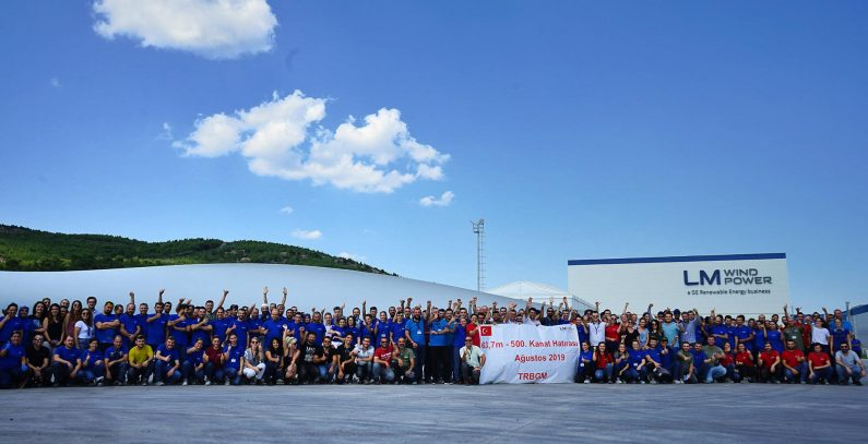 LM Wind Power's plant in Bergama produces 500th blade