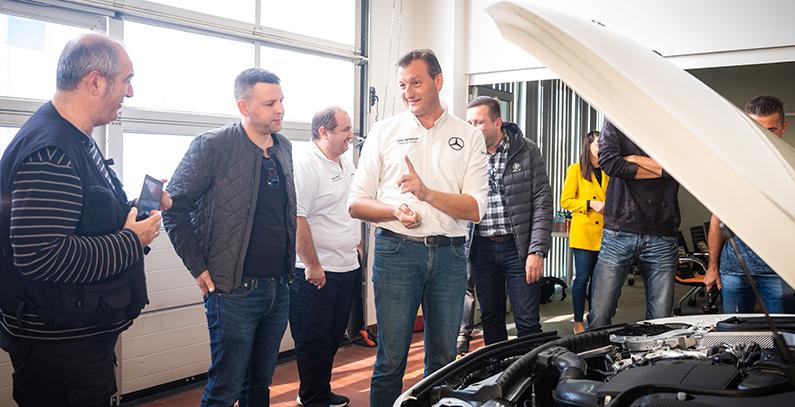 Mercedes-Benz organizes training for media to showcase E-Class plug-in hybrid