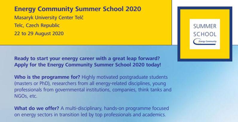 Energy Community Summer School in Czechia open for applications