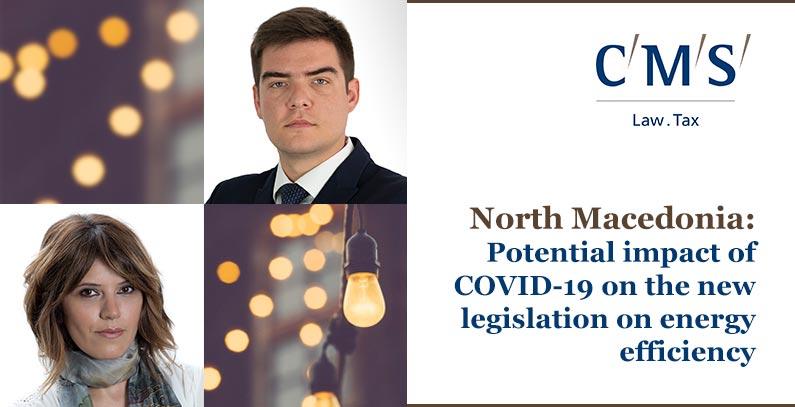 impact of COVID-19 legislation energy efficiency North Macedonia