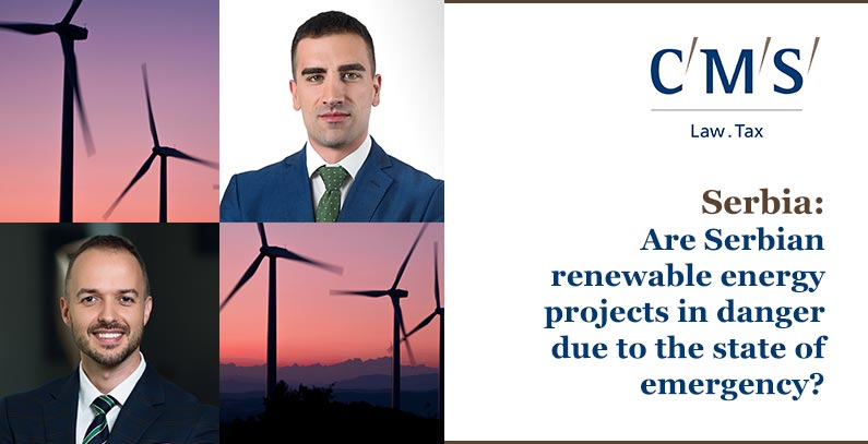 Are Serbian renewable energy projects in danger due to the state of emergency?