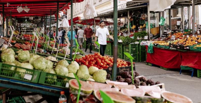 Vienna greenest city Brunnenmarkt
