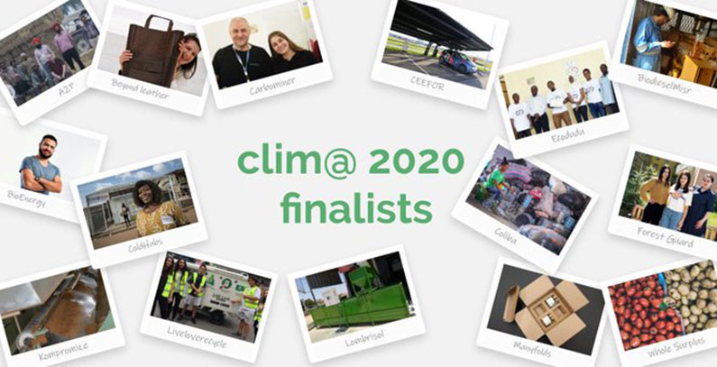 Three major environmental challenges clim@ 2020 finalists address