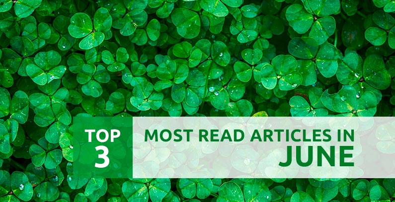 Top 3 most read articles in June