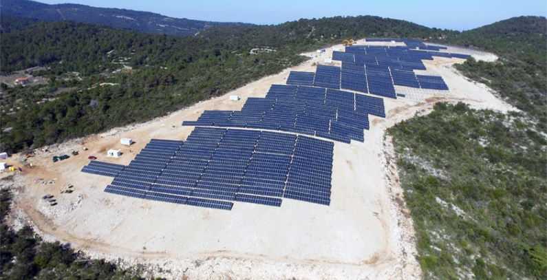 Biggest Croatian PV plant Vis island
