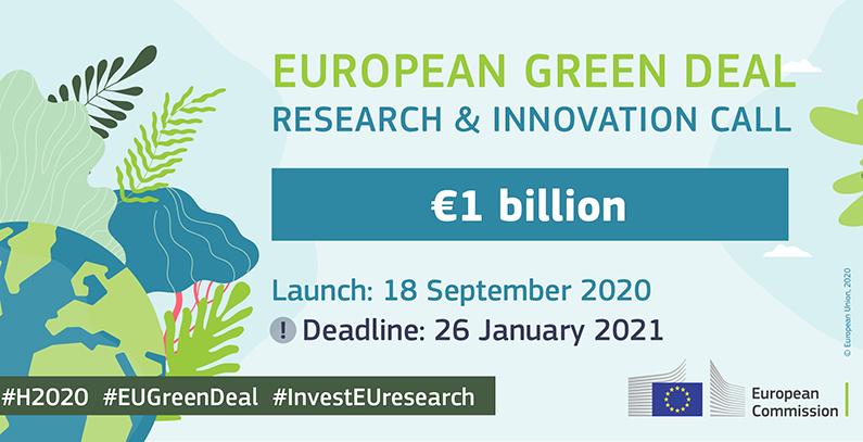 EU launches EUR 1 billion European Green Deal Call