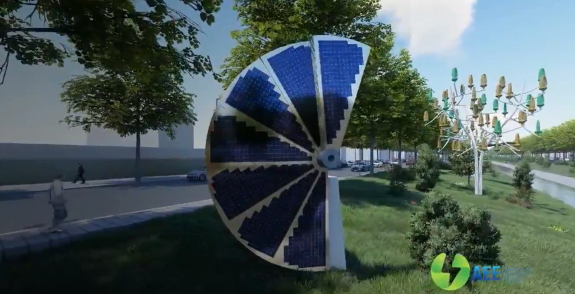 Renewables electric cars lighting Smart Road Tirana